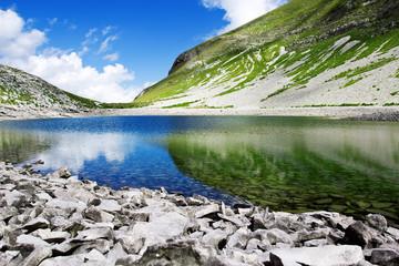 Photo sur Toile Reflexion lago di pilato