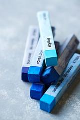 Different Blue Tone Pastels (soft pastels)