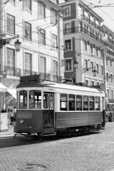 Tram in Lisbon, retro