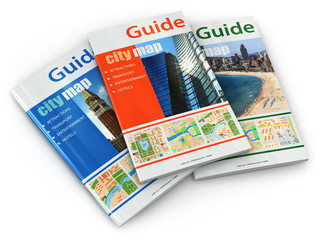 Travel guide books.
