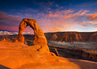 Delicate Arch at Sunset Wall mural