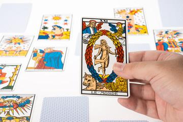 Draw tarot : The World