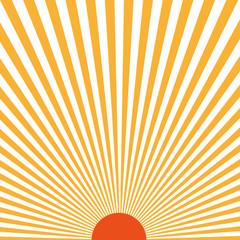Sunburst pattern. Vector illustration. Rays of light sun
