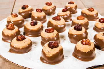 Peanut butter chcolate dipped candy