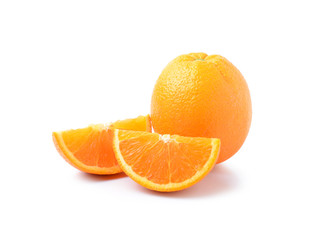 Orange on a white background.