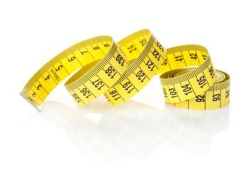 Yellow measure tape