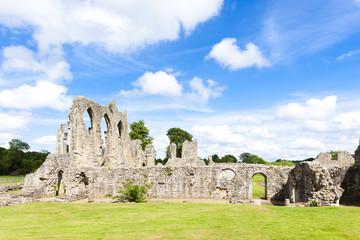 Fototapete - ruins of Bayham Abbey, Kent, England
