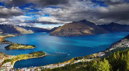 Fototapete - Wakatipu lake, New Zealand