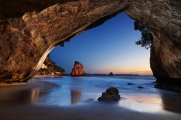 Foto op Plexiglas Cathedral Cove Cathedral Cove, New Zealand