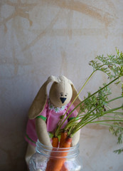 toy stores Bunny carrots for the winter