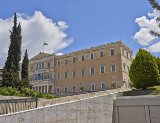 Athens, the Greek parliament (ex king's palace)