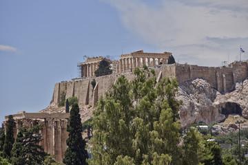 Parthenon on Acropolis and columns of the Olympian Zeus, Greece
