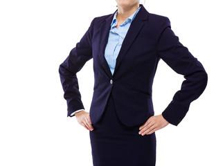 Businesswoman akimbo