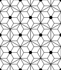 Seamless geometric pattern with triangles and diamonds. Vector i