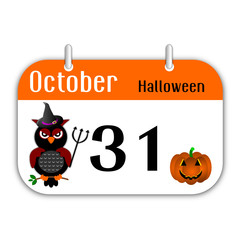Festa di Halloween sul calendario