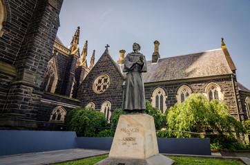 St. Patrick's Cathedral in Melbourne, Victoria, Australia.