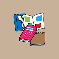 Book and memo