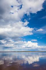 Ladoga lake in summer