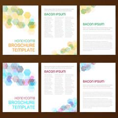 Abstract vector modern flyer broschure