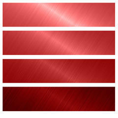 red metal banner