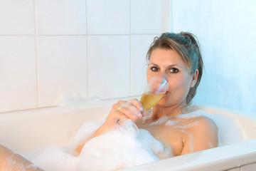 Feierabend in der Badewanne