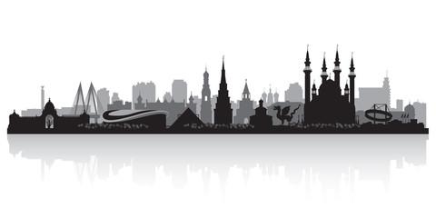 Kazan Russia city skyline vector silhouette