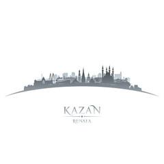 Kazan Russia city skyline silhouette white background