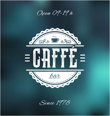 Caffe Bar Label