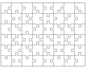 Vector illustration of white puzzle 2