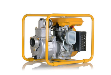 Water pump with gasoline engine