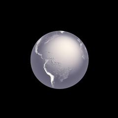Silver Globe, 3D render.