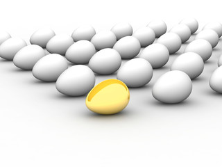 Golden egg. Concept - the Best.