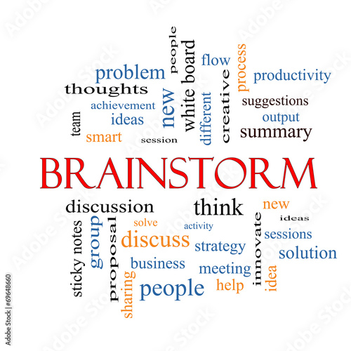 how to make a brainstorm in word