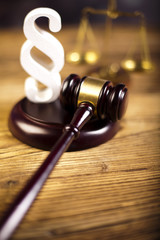 Judge wooden gavel and paragraph