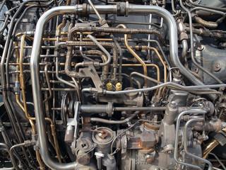 Vintage Jet Engine Detail