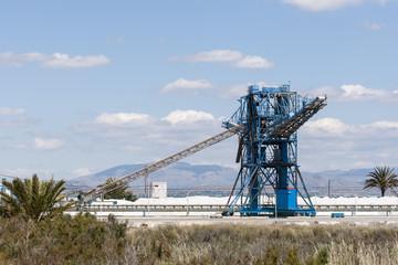 Saltworks in Santa Pola, Alicante, Spain