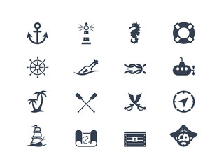 Marine and nautical icons