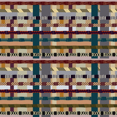 Tribal seamless pattern with bamboo trunks