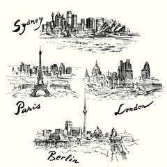 Paris, Berlin, London, Sydney