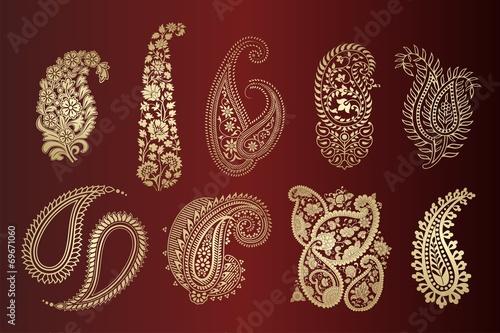 Quot Paisley Floral Motifs Textile Rajasthan Royal India