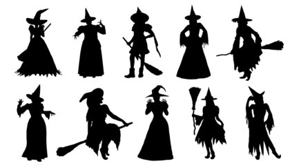 witch silhouettes