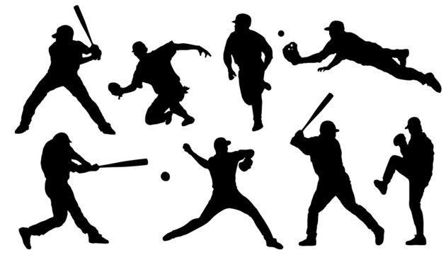 baseball sihouettes