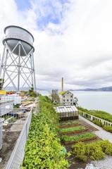 Alcatraz Garden & Water Tower, San Francisco, California