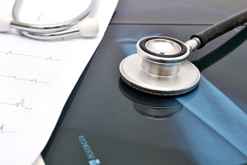 Stethoscope and X-ray