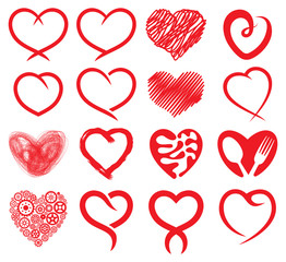Red heart collection