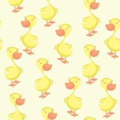 Duck seamless pattern