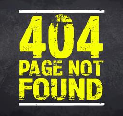 Kreidetafel mit 404 Page not found