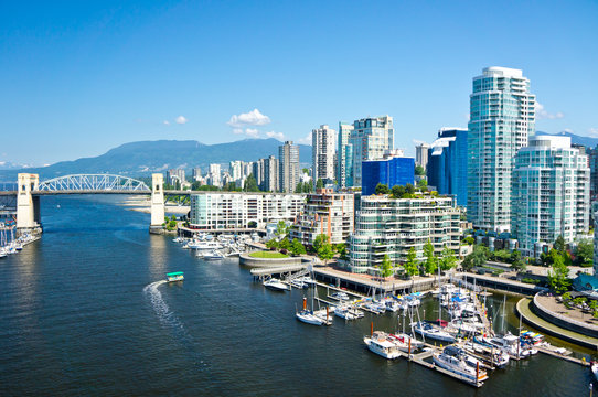 Beautiful view of Vancouver, British Columbia, Canada