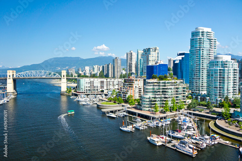 Fototapete Beautiful view of Vancouver, British Columbia, Canada