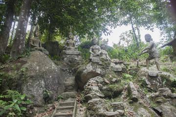 Stone statue at the magic garden